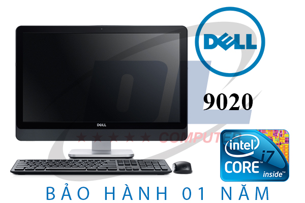 Dell All in one/ Quad core i7-4770s/ Dram3 8Gb/ Ổ cứng 500Gb/ Màn hình 23 LED IPS