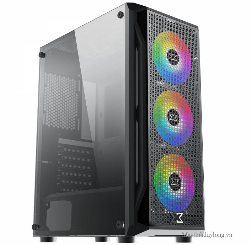 CASE Xigmatek Gaming X, Core i7 10700K x 8 lõi tubo 5,1Ghz, VGA RTX 3060 12GR5, Dram4 32G, NVME 512G dựng phim