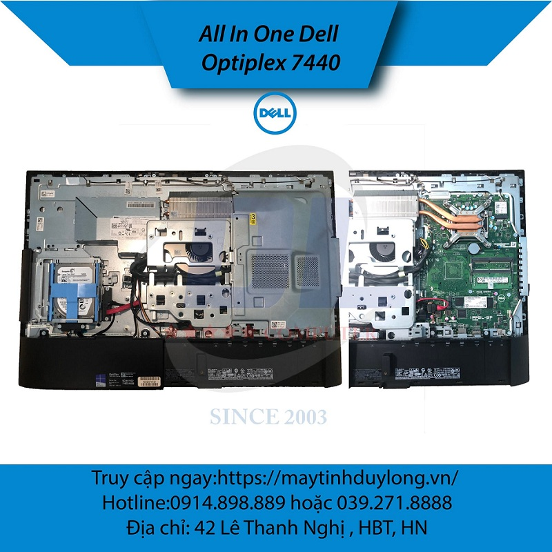 Dell All in one 7440/ Core i5 6500T, Dram4 8Gb, SSD M2 180G, Màn IPS 24'' FHD Ultra
